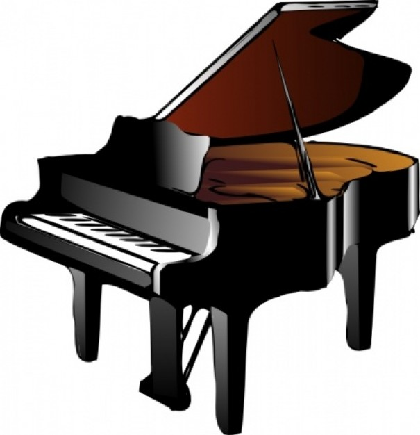 Upright Piano Clipart.
