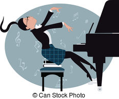 Pianoforte Clipart and Stock Illustrations. 363 Pianoforte vector.