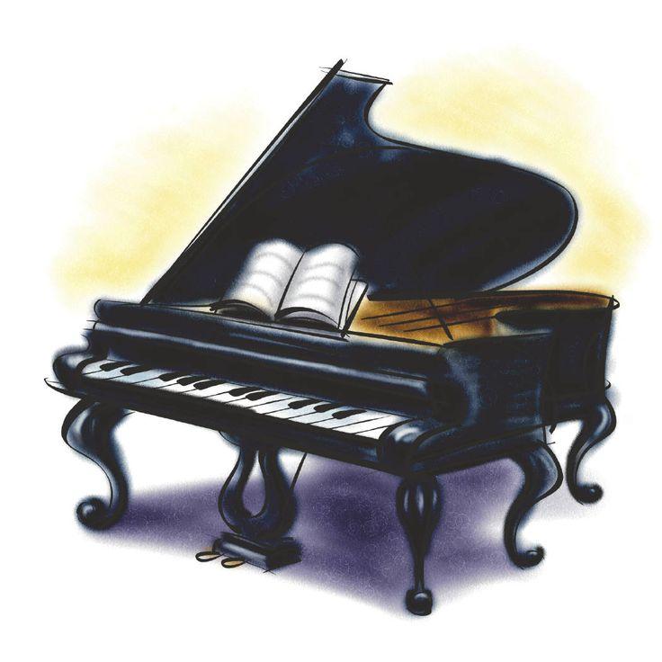 Piano clipart 4.