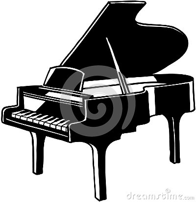 Piano Vector Royalty Free Stock Photos.