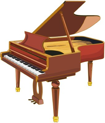 Pictures of pianos clipart.