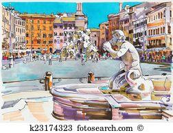 Piazza Clip Art Illustrations. 147 piazza clipart EPS vector.