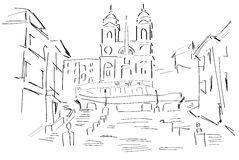Piazza Stock Illustrations.
