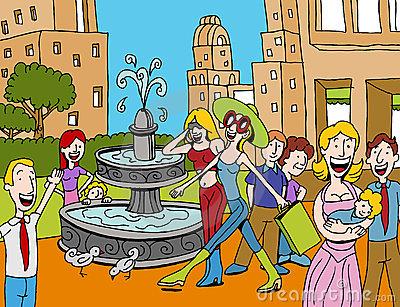 Plaza Stock Illustrations.