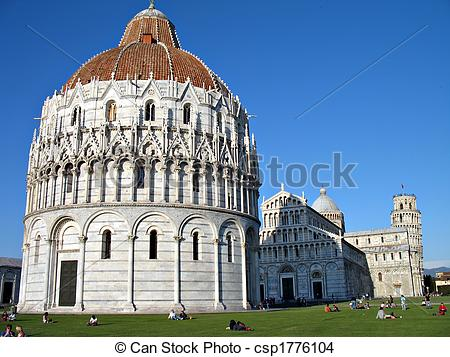 Stock Photo of Piazza dei Miracoli Pisa.