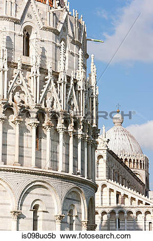 Stock Photography of Piazza dei miracoli, Pisa, Italy is098uo5b.
