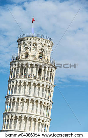 Stock Photo of The Leaning Tower of Pisa, Santa Maria Assunta.