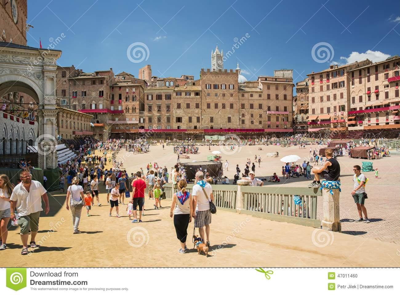 Piazza Del Campo Siena,Tuscany,Italy Editorial Image.