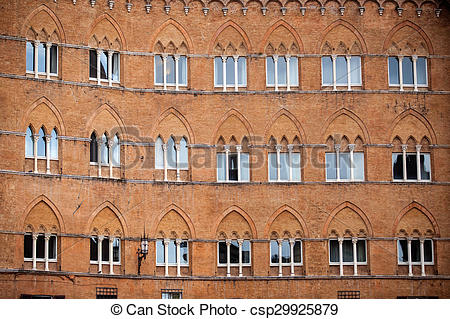 Picture of Piazza del Campo in Siena, Tuscany, Italy csp29925879.