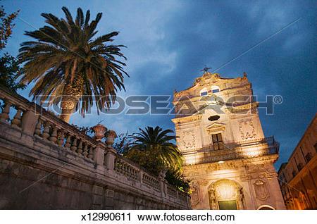 Stock Photography of Palazzo Arcivescovile, Piazza del Duomo.