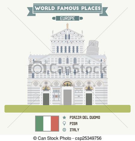Clipart Vector of Piazza del Duomo, Pisa. Italy csp25349756.