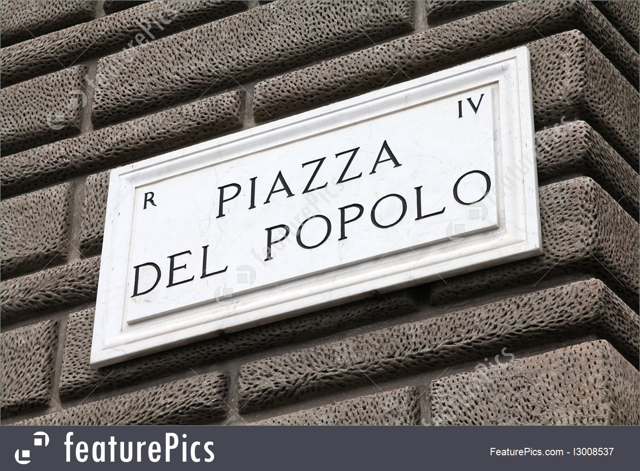 Signs And Info: Piazza Del Popolo.