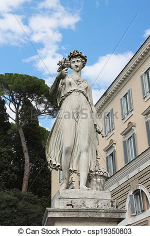 Stock Photography of One of the four allegorical sculptures in.