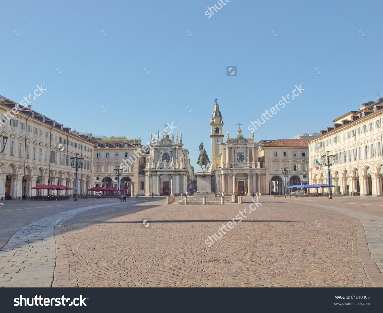 Piazza San Carlo Turin Torino Baroque Stock Photo 84610405.