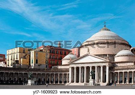 Stock Photo of Italy, Campania, Naples, church of San Francesco di.