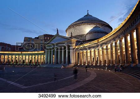 Stock Photograph of San Francesco di Paola, Piazza del Plebiscito.