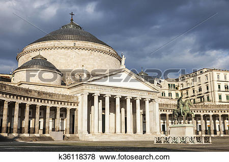 Pictures of San Francesco di Paola Church in Naples k36118378.