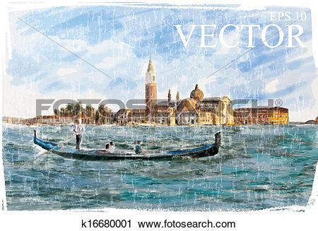 Clipart of Venice, Italy.