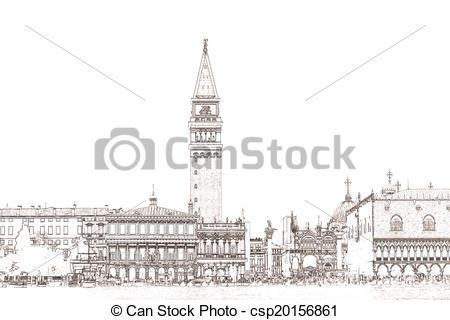 Archivio illustrazioni di Venezia, Marco, piazzetta, San.