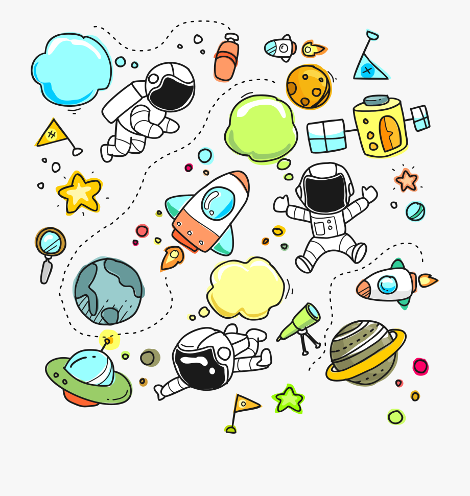 Planets Clipart Collage.