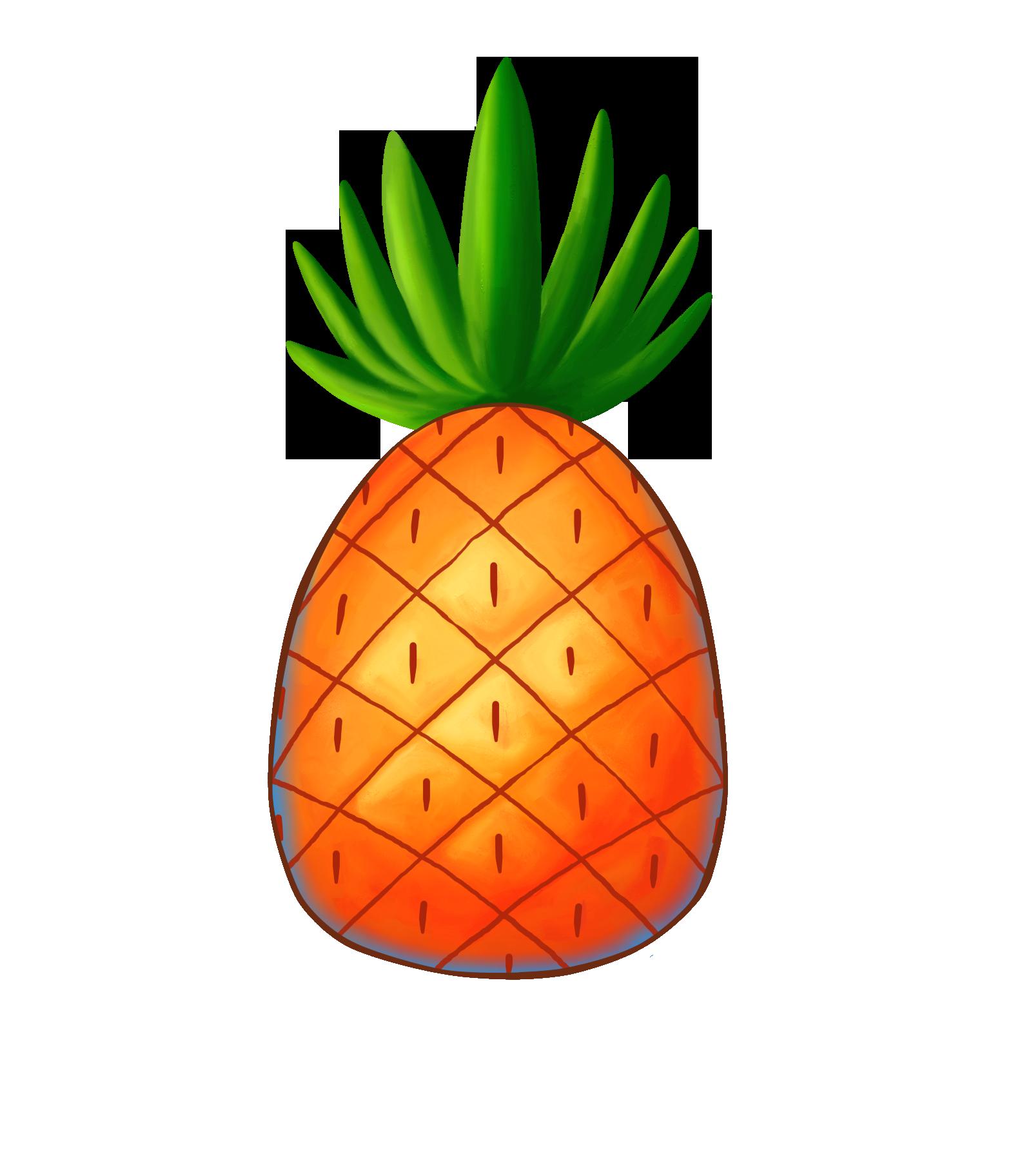 Clipart pineapple sticker, Clipart pineapple sticker.