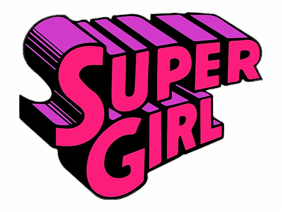 Tumblr Cute Supergirl Girl Png Clipart Collage Stickers.