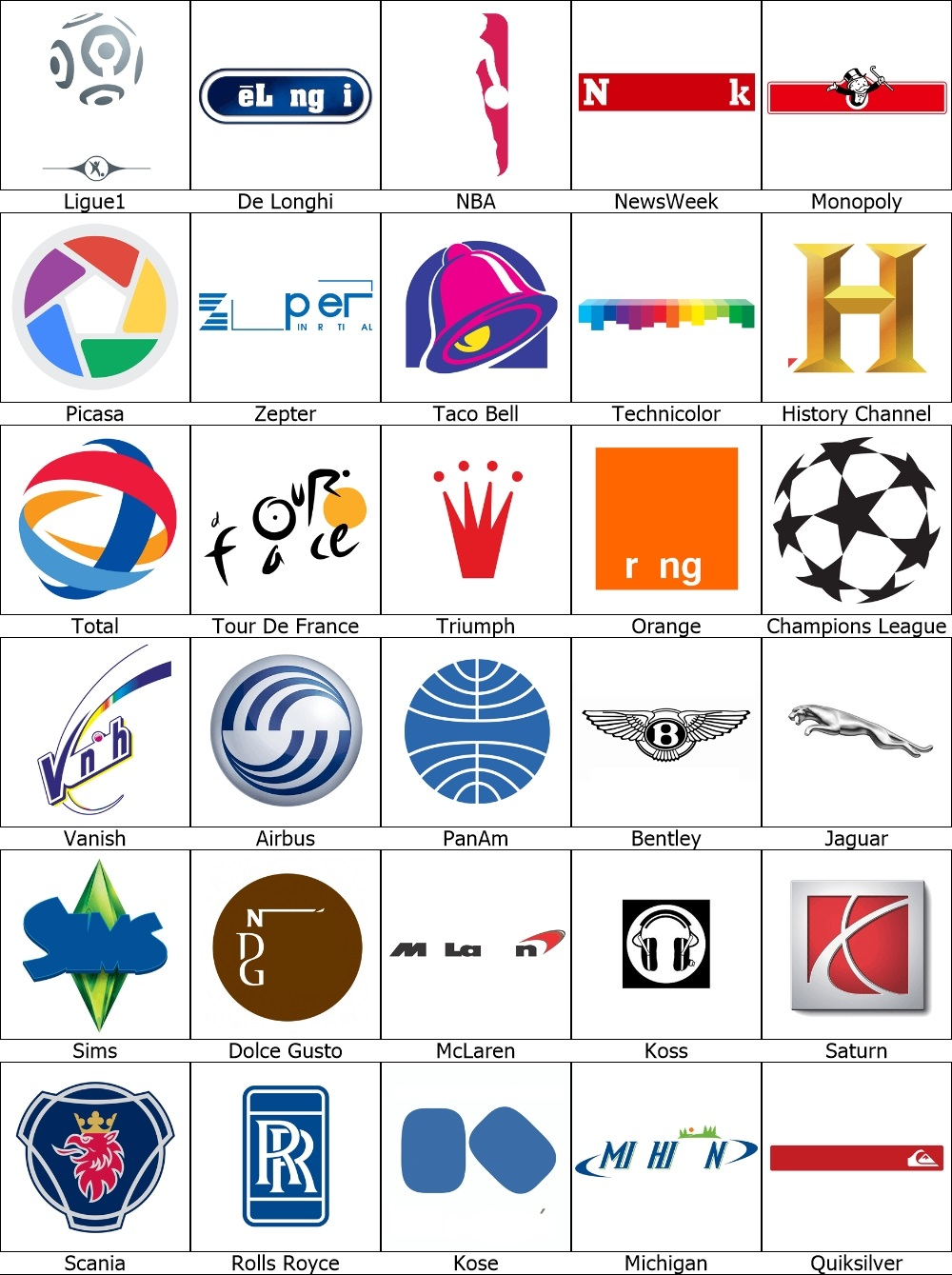 Quiz Logos.