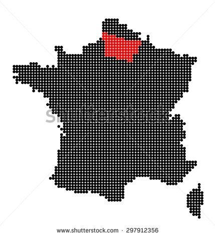 Picardie Map Stock Vectors & Vector Clip Art.