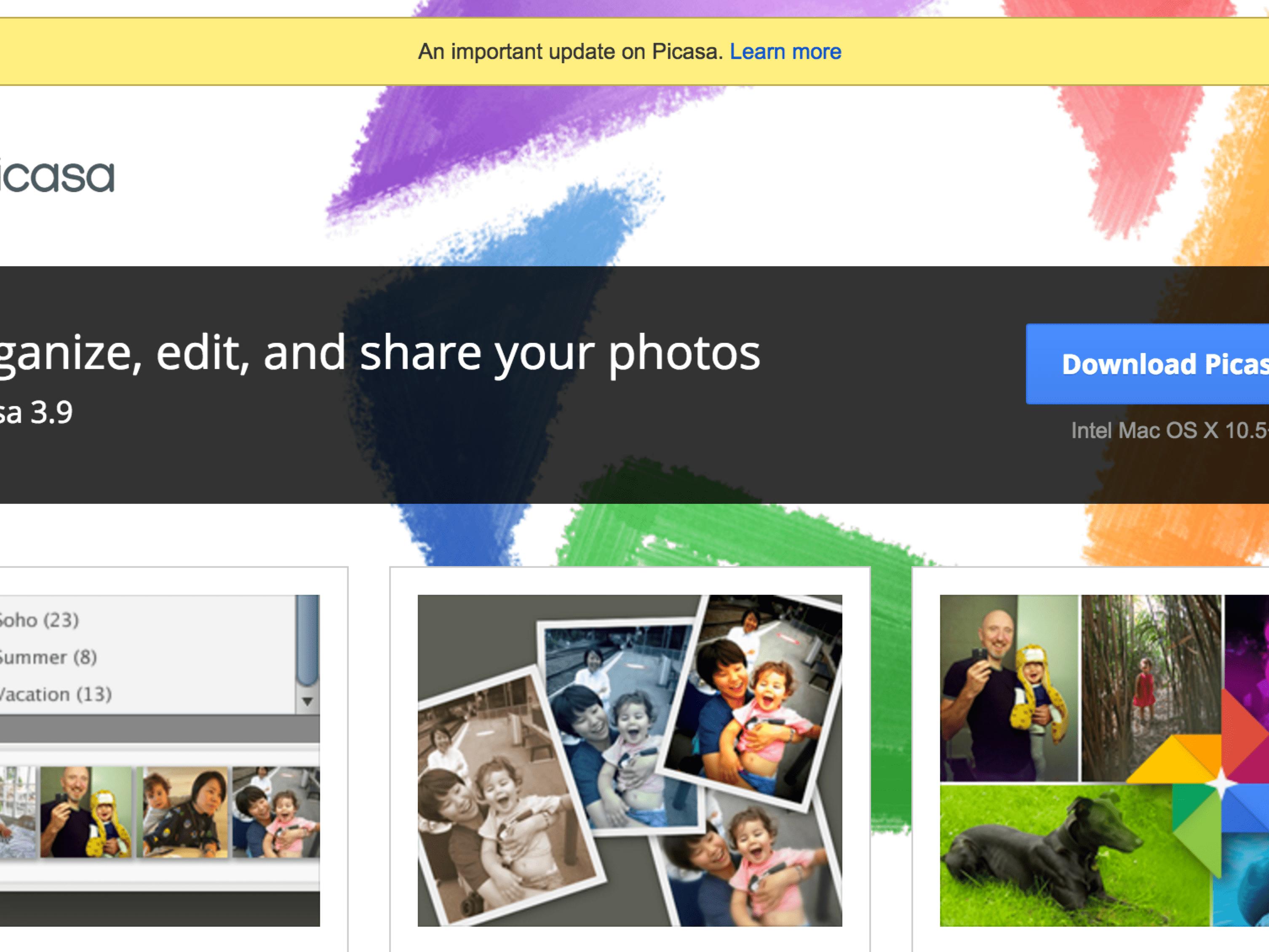 Google Picasa Is Dead.