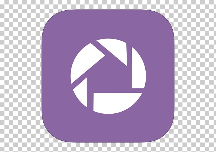 Purple symbol, MetroUI Google Picasa PNG clipart.