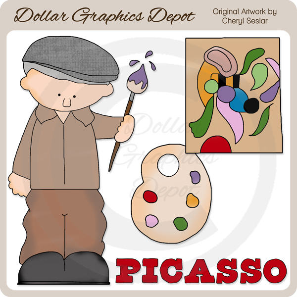 Picasso food clipart.