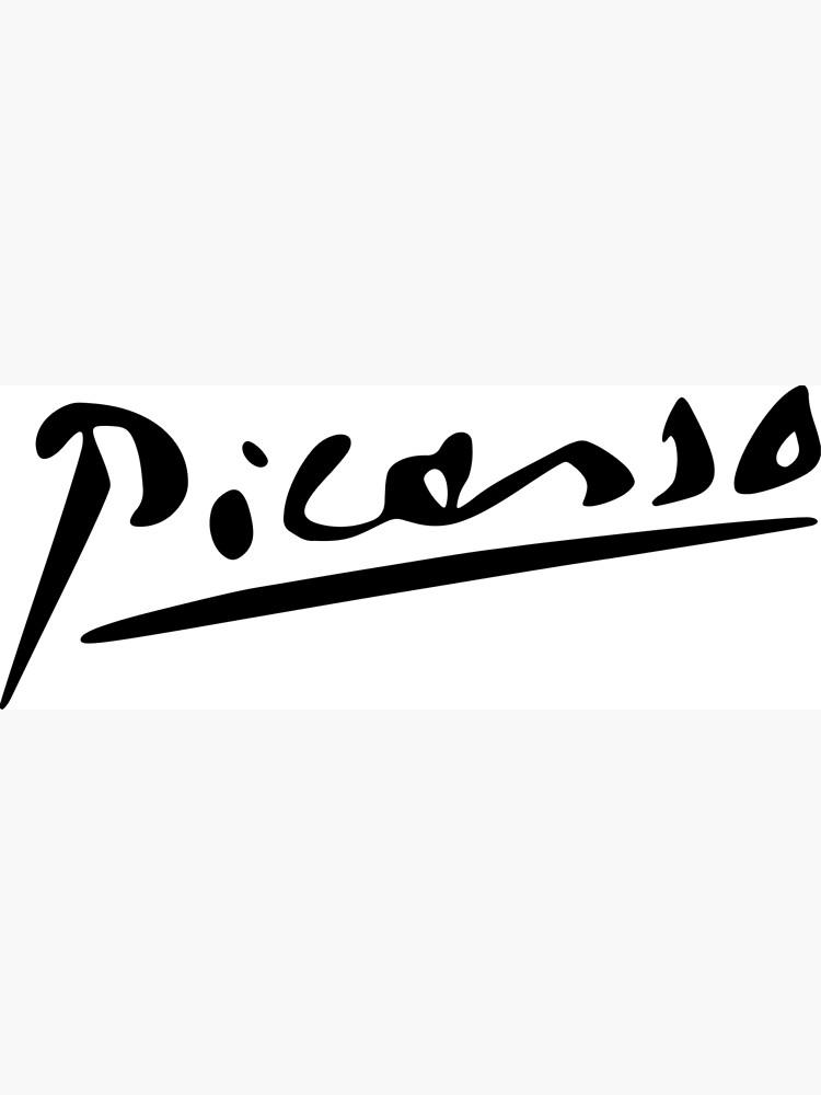 Pablo Picasso Signature, Artworks.