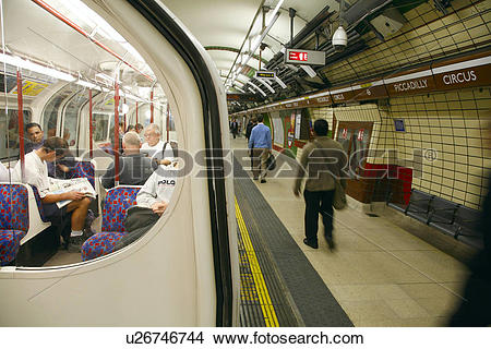 Stock Photo of England, London, Piccadilly Circus Underground St.