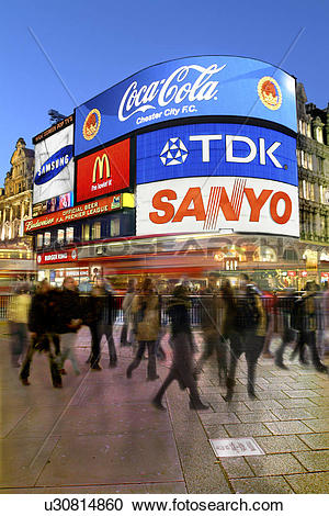 Stock Photography of England, London, Piccadily Circus, Piccadilly.