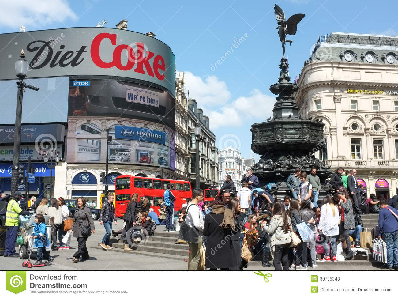 Piccadilly Circus Editorial Image.