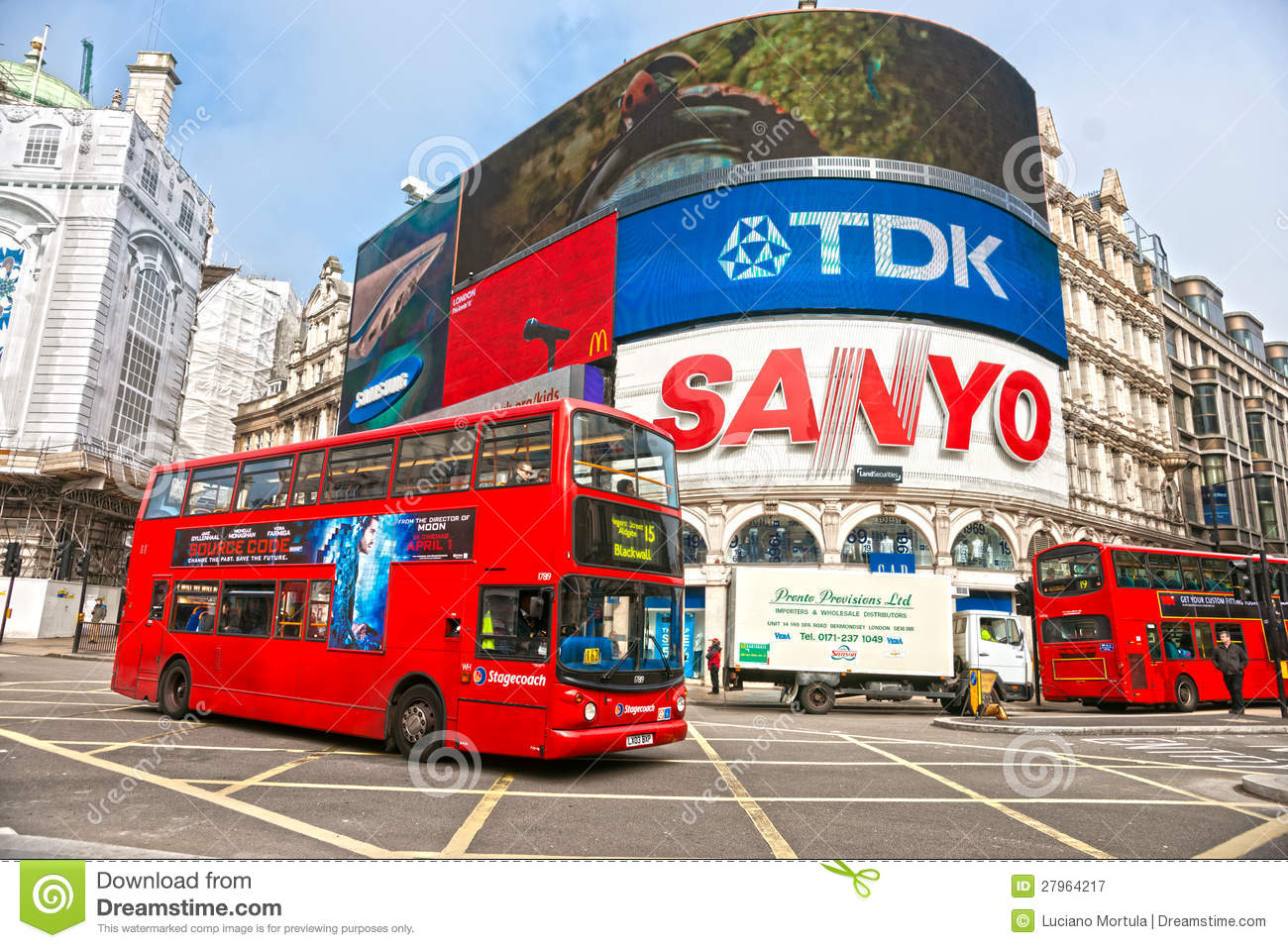Piccadilly Circus, London Editorial Stock Photo.