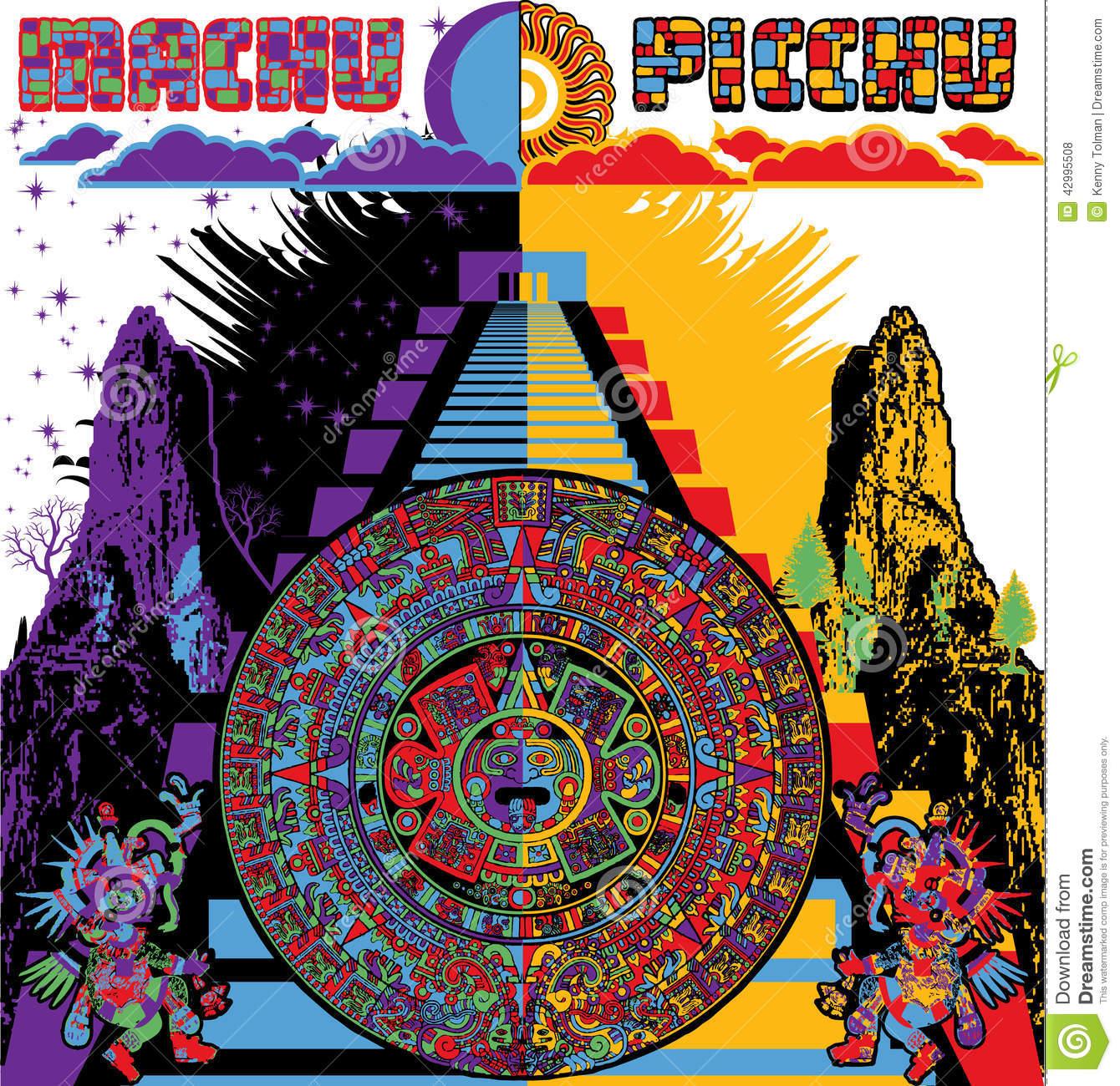Picchu Stock Illustrations.