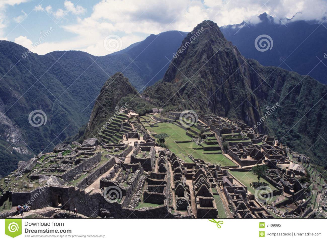 Ruins Of Machu Picchu, Peru Royalty Free Stock Photo.