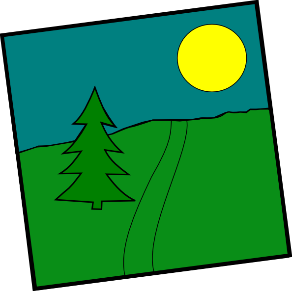 Landscape With A Picea Clip Art at Clker.com.