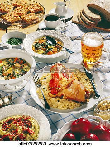 "Stock Photograph of ""German national cuisine, Pichelsteiner stew."