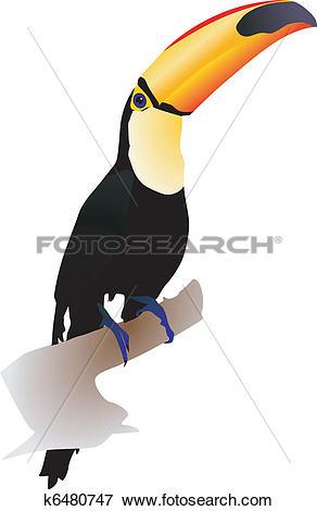 Clip Art of toucan k6480747.