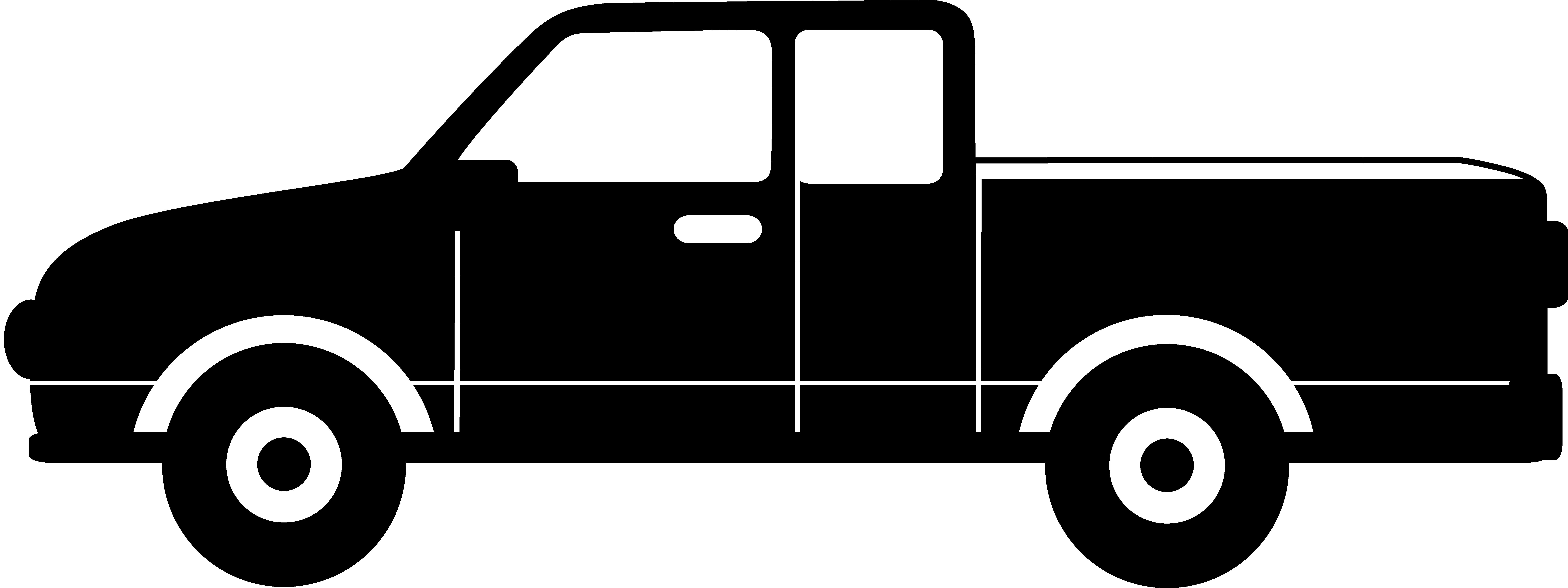 Black Pickup Truck Silhouette.