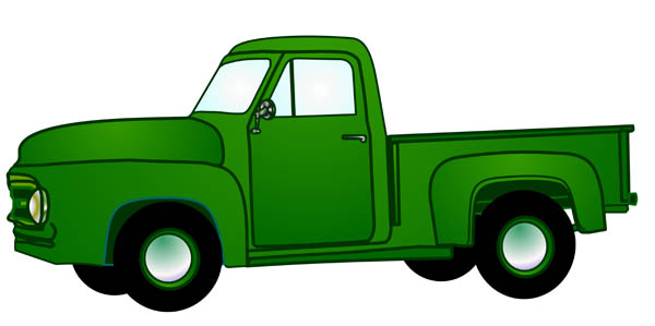 Pick up truck clipart.