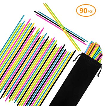 CODOHI 90PCS Bamboo Pick Up Sticks for Kids & Parents Bamboo Classic Game  7.5 Inch Long Pick.