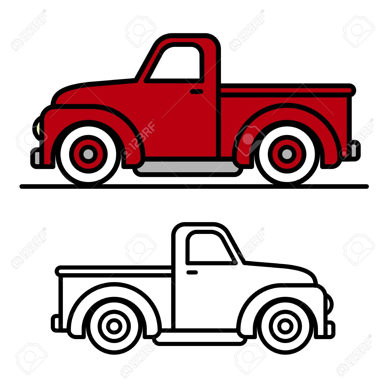 Best Cartoon Pickup Truck Clipart Rumors.