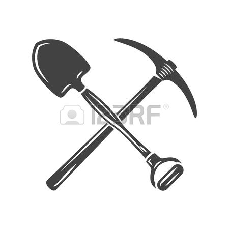 412 Shovel And Pickaxe Stock Vector Illustration And Royalty Free.