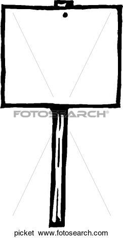 Clip Art of Picket picket.