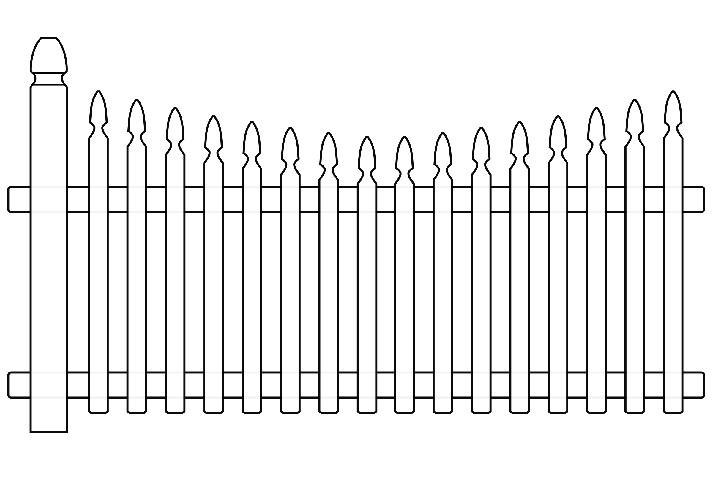 Clipart white picket fence.