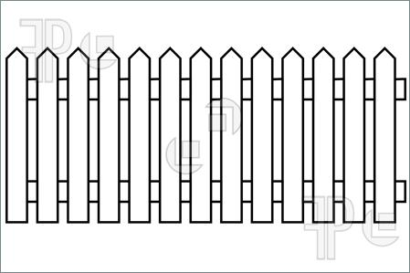 Picket fence gate clipart.