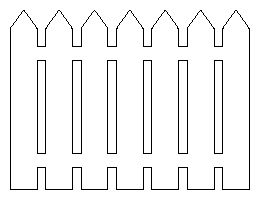 Clipart Silhouette Of Picket Fence.